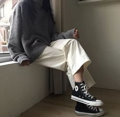 outfit casual date Look Fashion, Hijab Fashion, Girl Fashion, Fashion Outfits, Fashion Tips, Retro Outfits, Korean Outfits, Casual Outfits, Rock Outfits