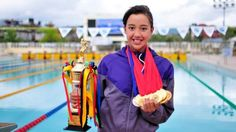 Survived the earthquake: Nepali is OL's youngest. The Nepalese Olympic swimmer Gaurika Singh is just 13 years old. Photo: vibesnepal.com / vibesnepal.com