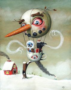 Mark Brown conjures up many pop surrealism delights. Ah, the wild cacophony of colorful characters. Doesn't this just make you long for the days of winters? Mark Brown, Pop Art Illustration, Illustrations, Bizarre Art, Brown Art, Illusion Art, My Cup Of Tea, Pop Surrealism, Favorite Person