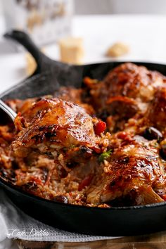 Cafe Delites | One Pot Italian Chicken and Rice | http://cafedelites.com