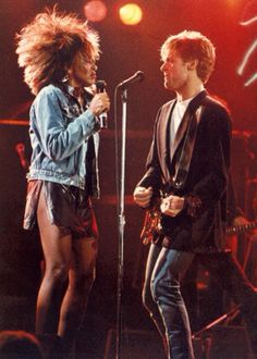 Tina Turner & Bryan Adams 1985 in UK