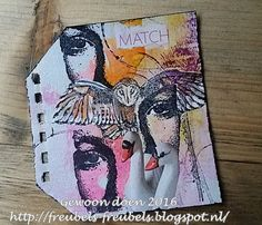 Gewoon doen Card Tags, Cards, Eye Art, Banksy, Altered Books, Art Journals, Mixed Media, Stamps, Scrap