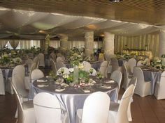 Silver wedding theme Table Settings, Events, Weddings, Table Decorations, Group, Silver, Furniture, Home Decor, Decoration Home