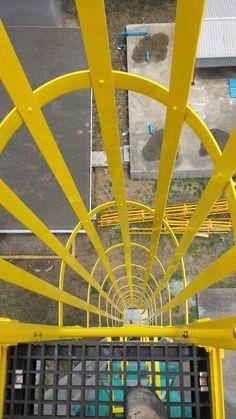 Safety Ladder, Welding, Industrial, Construction, Steel, Fiber, Railings, Glass, Tecnologia