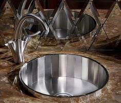 New Kohler Brinx Entertainment Sink - faceted steel with mirrored finish