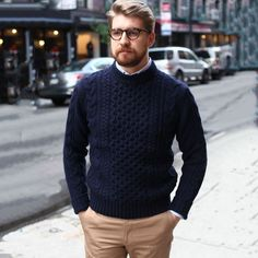 Casual Loose Solid Color Long Sleeve Men Sweater -Fashion Casual Loose Solid Color Long Sleeve Men Sweater - Weekend style inspiration from LePantalon - Le Jean Brut Noir Parfait Gentleman Fashion Casual, Big Men Fashion, Mens Fashion Suits, Men Casual, Men's Fashion, Fashion Boots, Moda Fashion, Cheap Fashion, Casual Styles