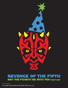 Return of the Fifth T-shirt. This and many other patterns can be downloaded from our blog. /// Note: Patterns are ©, and your work must include © if posted, and can not be sold. See blog for complete ©. #darthmaul #starwars #tshirt #starwarsparty #maythefourthbewithyou #starwarsbirthday #starwarscostume #returnofthefifth #sith maythefourthbewithyoupartyblog.com