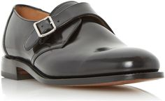 Loake 204b single buckle leather monk shoes