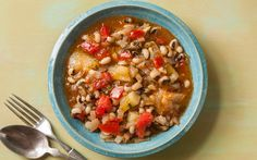 Black-eyed-Pea-Stew-recipe-dan-buettner - no need for the olive oil in this recipe; lighten the dish without the oil. To add some healthy fat, serve with avocado, or top with pine nuts or cashews