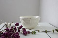 Small White Mixing Bowl by PlaceMichel on Etsy