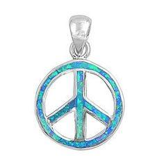 CloseoutWarehouse Sterling Silver Fancy Peace Pendant