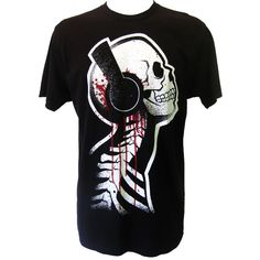 Akumu Ink Tone Death T-Shirt | Gothic Clothing | Emo clothing |... ($30) ❤ liked on Polyvore featuring tops, t-shirts, shirts, tees, hauts, black shirt, punk rock t shirts, shirts & tops, punk t shirts and punk shirt