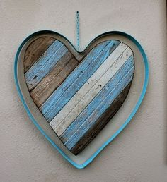 Rustic Reclaimed Wood Art | Reclaimed Wooden Heart - Rustic - Shabby - Home Decor - Wall Hanging ...