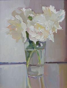 830 best white flowers images on pinterest in 2018 flower art maryann lucas white peonies in glass peony paintingflower mightylinksfo