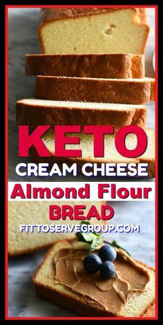 Coconut Flour Cakes, Almond Flour Bread, Almond Flour Recipes, Almond Flour Desserts, Coconut Oil, Almond Flour Pancakes, Baking With Almond Flour, Cream Cheese Bread, Cream Cheeses