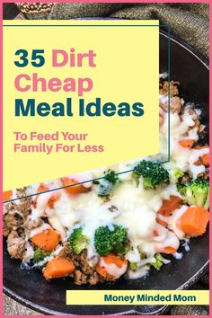 If you are trying to get your grocery budget under control, then you need to add these dirt cheap meals to your monthly meal plan. These cheap recipes will help you feed your family on a budget whether your meal prepping for two or a large family and most of these meals are under $2 per serving and there are many recipes to add to your weekly menu for less than $1. These budget dinner, lunch, and breakfast ideas will help you to save money on groceries while feeding your family healthy… Money Saving Meals, Money Hacks, Money Savers, Money Tips, Cheap Recipes, Easy Healthy Recipes, Easy Dinner Recipes, Crockpot Recipes, Dirt Cheap Meals