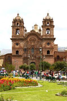 Cathedral in Plaza de Armas of Cuzco, Peru  lisa pfaff
