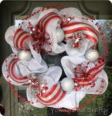 silver mesh christmas wreath - Google Search