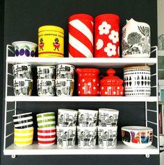 Marimekko coffee cups and...