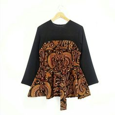 Untitled Blouse Batik, Blouse Dress, Dress Up, Model Dress Batik, Batik Dress, Batik Fashion, Hijab Fashion, Fashion Dresses, Dress Batik Kombinasi