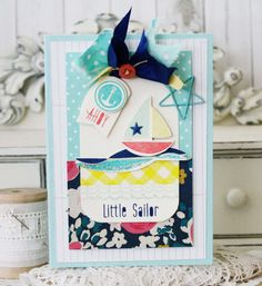Hello Little Sailor...Handmade Card by lilybeanpaperie on Etsy