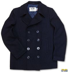 """Selectism - US Navy Style Pea (""""P"""") Coat. I want a coat like this.."""
