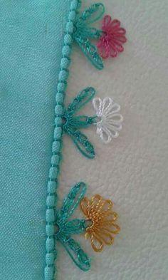 Çıtı Pıtı İğne Oyaları Modelleri 63 - Mimuu.com Seed Bead Tutorials, Beading Tutorials, Crochet Borders, Crochet Patterns, Point Lace, Ribbon Art, Needle Lace, Lace Making, Bargello