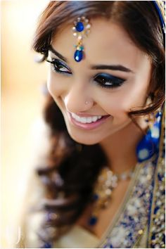 Blue eye bridal look