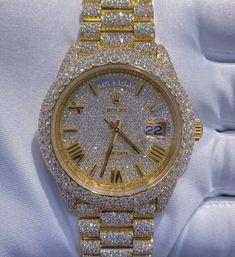Mens Diamond Jewelry, Gold Diamond Watches, Opal Jewelry, Luxury Jewelry, Stylish Watches, Luxury Watches, Cool Watches, Rapper Jewelry, Rajputi Jewellery