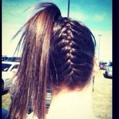 Find images and videos about hair on We Heart It - the app to get lost in what you love. Pretty Hairstyles, Braided Hairstyles, Cheer Hairstyles, Volleyball Hairstyles, French Braid Ponytail, French Braids, Braid Hair, About Hair, Hair Today
