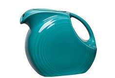 Disk Pitcher, Turquoise