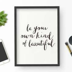 Be Your Own Kind of #Beautiful #motivationmonday #zoella #inspiration #wisdom #quote