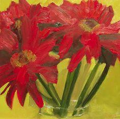 Lisa M. Payne Studio: Red Gerberas - SOLD
