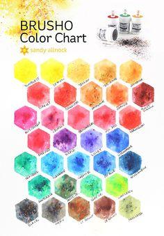 Sandy Allnock brusho color chart
