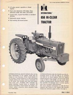 1967 IH 656 Hi-Clear Tractor, AD-3809-T