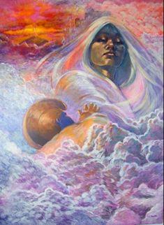 """Poliahu is the Hawaiian snow goddess. She is the presiding spirit of Mauna Kea on the island of Hawaii. Her name means 'caress'. According to Hawaiian lore, Poliahu inhabits Mauna Kea, the greatest. Hawaiian Mythology, Hawaiian Goddess, Hawaiian Legends, Hawaiian Art, Hawaiian Dancers, Jaguar, Sacred Feminine, Divine Feminine, Divine Mother"