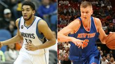 Karl-Anthony Towns y Kristaps Porzingis elegidos Novatos del Mes en la NBA