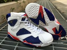 "35ff8af2f2b6 ""Tinker Alternate"" Air Jordan 7 White Metallic Gold Coin-Deep Royal  Blue-Fire Red Cheap To Buy"