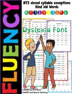 If your students are beginning or struggling readers one of the keys to fluency is to increase their automaticity. Automaticity is the fast, effortless word recognition that comes with a great deal of reading practice. These activity sheets are a fast way to encourage students to practice. These she... Reading Practice, Teaching Reading, Dyslexia Activities, Friends Font, Gillingham, Struggling Readers, Syllable, Student Reading, Activity Sheets