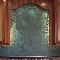 William Grix Art Glass - kilnformed glass kitchen backsplash