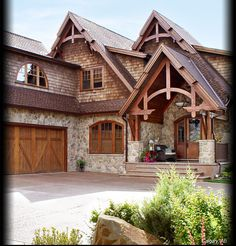 brick and stone exterior | Cultured Stone Bucks County Dressed Fieldstone residential entrance ...