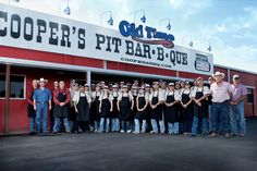 """Cooper's BBQ 604 W. Young Street, Llano, TX 78643. (325) 247-5713. Sun-Thurs: 11:00am – 8:00pm, Fri & Sat: 11:00am – 9:00pm.  Located in the Texas Hill Country, Cooper's is home of the original World Famous """"Big Chop.""""  The Wootan Family has provided its World Famous Pit Barbecue to thousands of hungry diners at its family-owned and operated restaurant. Get a taste of Hill Country BBQ that reviewers have raved about, and remember It's All About The Meat."""