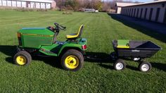 "www.M37Auction.com: John Deere 425 Tractor w/ 54"" Mower Deck, Snowthrower, and Trailer w/ Accessories-Great Condition!"