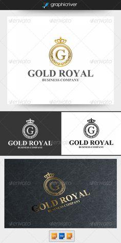 Gold Royal - Logo Design Template Vector #logotype Download it here: http://graphicriver.net/item/gold-royal-logo/6176530?s_rank=746?ref=nesto