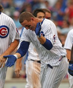 Help us wish Anthony Rizzo a happy birthday! Rizzo leads National League rookies in home runs and RBI since his June 26 Cubs debut. Chicago Cubs Baseball, Sports Baseball, Baseball Players, Chicago Chicago, Sports Teams, Cubs Players, Chicago Cubs World Series, Cubs Win, Go Cubs Go