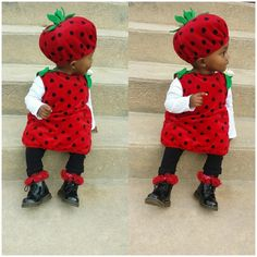 Baby size 9-12 month Halloween Costume Baby 9-12 month Strawberry Costume worn once, like new condition Koala Kids Other