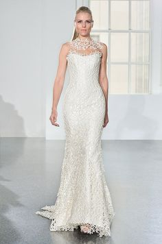 Unique textured wedding dress. Romona Keveza Collection, Fall 2014