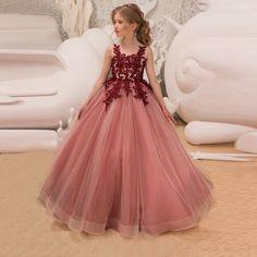 Princess Flower Girl Dresses, Princess Dress Kids, Girls Lace Dress, Princess Girl, Girls Party Dress, Girls Dresses, Dress Girl, Party Dresses, Princess Party