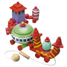 Playskool in the Night Garden Ninky Nonk Stacking Train Toy by hasbro. $99.99. Kids will love this In The Night Garden cute, stacking, pull along Ninky Nonk Train with bright and colorful pieces. Carriages are interchangeable and can be connected in any order. Ninky Nonk can be pulled along by a 30cm cord complete with safety connector.