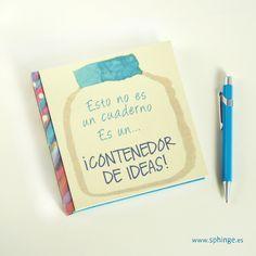 Handmade notebook with original printed design on the cover / Cuaderno hecho a mano con diseño original impreso en la portada